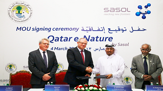 Sasol and Friends of the Environment Center Sign MOU to Develop Qatar e-Nature Application