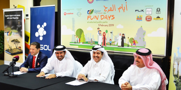 "The Ministry of Municipality and Environment, Sasol, and ORYX GTL  launch ""Fun Days with Qatar e-Nature""  at 7 Public parks"