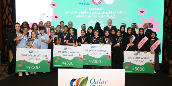 Ministry of Education and Higher Education, Sasol and FEC Honor Winners of Qatar e-Nature Schools Contest 2019